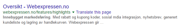 Webexpressen SEO